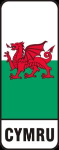 CYMRU or Welsh flag